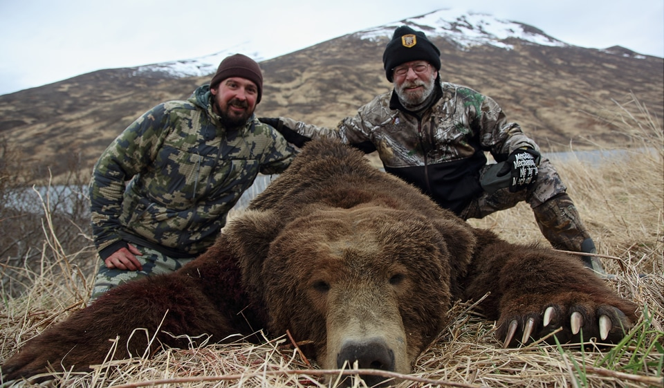 Large bear photo taken on an Arctic North Guides hunt.